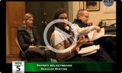 Putney Selectboard Meeting 11/5/14