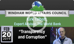 Windham World Affairs Council: Transparency and Corruption 2/20/19