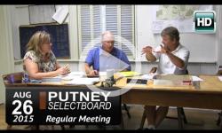 Putney Selectboard 8/26/15