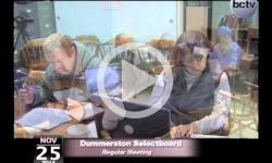 Dummerston Selectboard Mtg 11/25/14
