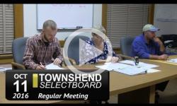 Townshend Selectboard Mtg 10/11/16