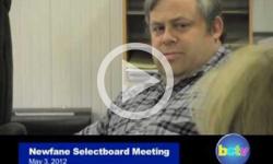 Newfane Selectboard Mtg. 5/3/2012
