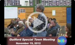 Guilford Special Town Mtg. 11/19/12
