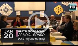 Brattleboro Town School Bd Mtg 1/20/16