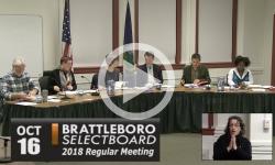 Brattleboro Selectboard Mtg 10/16/18