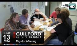 Guilford Selectboard Mtg 6/13/16
