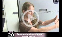 Dummerston Selectboard Mtg 8/20/14
