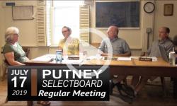 Putney Selectboard Mtg 7/17/19