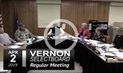 Vernon Selectboard Mtg 4/2/19