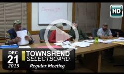 Townshend Selectboard Mtg 12/21/15