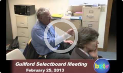 Guilford Selectboard Meeting 2/25/13