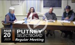 Putney Selectboard Mtg 3/20/19