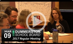 Dummerston School Board Mtg 5/9/17