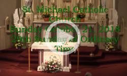 Mass from Sunday, October 21, 2018