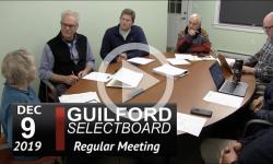 Guilford Selectboard Mtg 12/9/19