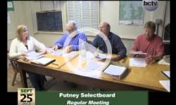 Putney Selectboard Mtg. 9/25/13