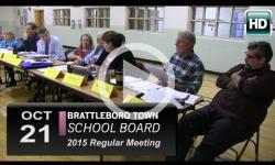 Brattleboro Town School Board Mtg 10/21/15