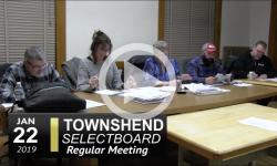 Townshend Selectboard Mtg 1/22/19