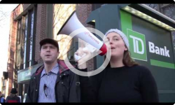 Mass Rally at TD Bank in Brattleboro 2/22/17