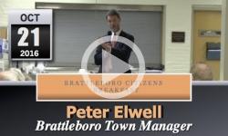 Brattleboro Citizens Breakfast: Peter Elwell 10/21/16