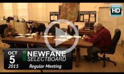 Newfane Selectboard Mtg 10/5/15
