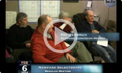 Newfane Selectboard Mtg. 2/6/14