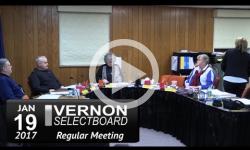 Vernon Selectboard Mtg 1/19/17
