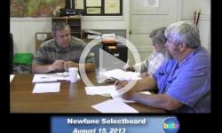 Newfane Selectboard Mtg. 8/15/13