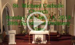 Mass from Sunday, October 14, 2018