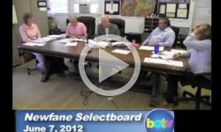 Newfane Selectboard Mtg. 6/7/12