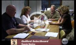 Guilford Selectboard Mtg. 9/9/13