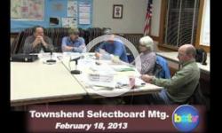 Townshend Selectboard Mtg. 2/18/13