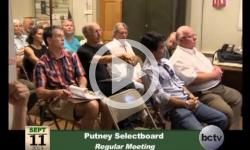 Putney Selectboard Mtg. 9/11/13