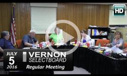 Vernon Selectboard Mtg 7/5/16