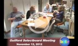 Guilford Selectboard Mtg. 11/12/12