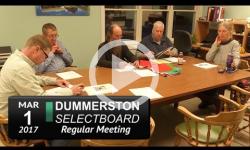 Dummerston Selectboard Mtg 3/1/17