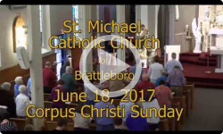 Mass from Sunday, June 18, 2017