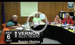 Vernon Selectboard Mtg 7/6/15