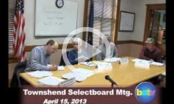 Townshend Selectboard Mtg 4/15/13