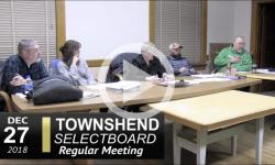 Townshend Selectboard Mtg12/27/18