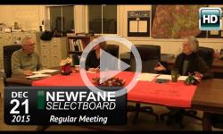 Newfane Selectboard Mtg 12/21/15