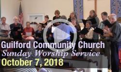 Guilford Church Service - 10/7/18