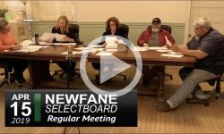 Newfane Selectboard Mtg 4/15/19