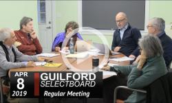 Guilford Selectboard Mtg 4/8/19