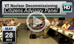 VT Nuclear Decommissioning Citizens Advisory Panel: 5/28/15