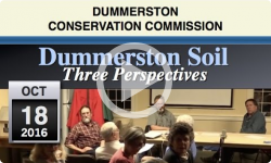 DCC: Dummerston Soils, Three Perspectives 10/18/16