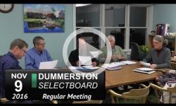 Dummerston Selectboard Mtg 11/9/16