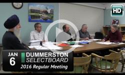 Dummerston Selectboard Mtg 1/6/16