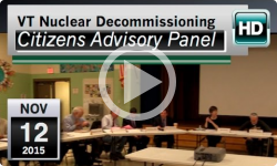 VT Nuclear Decommissioning Citizens Advisory Panel: 11/12/15