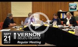 Vernon Selectboard Mtg 9/21/15